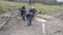 Work on the cattle drinking trough