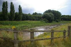 The River Mersey, running high