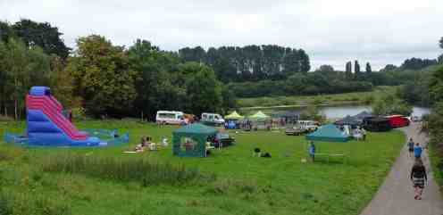 RSPB setting up tents