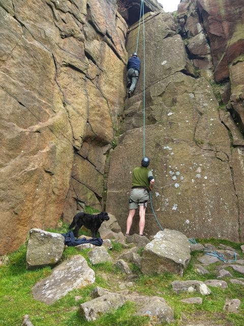 SACV volunteer climbing 2