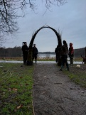 The completed willow arch
