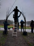 Working on the willow arch1