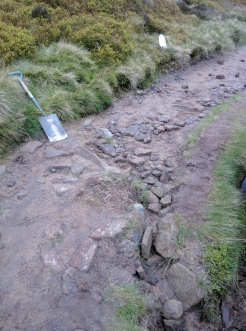 Before starting drainage repair on Pennine Way