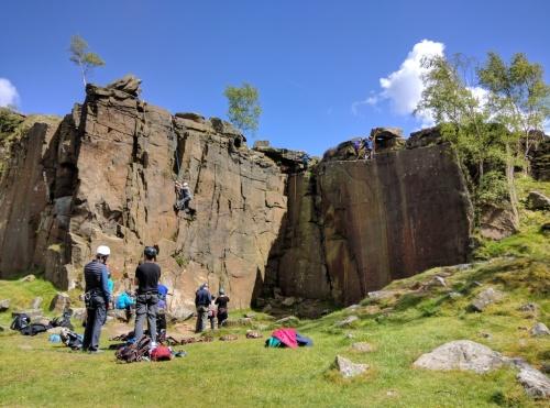 Rock-climbing at Pick-and-Play
