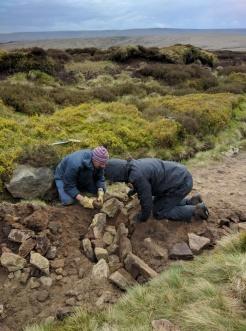 Before starting drainage repair on Pennine Way