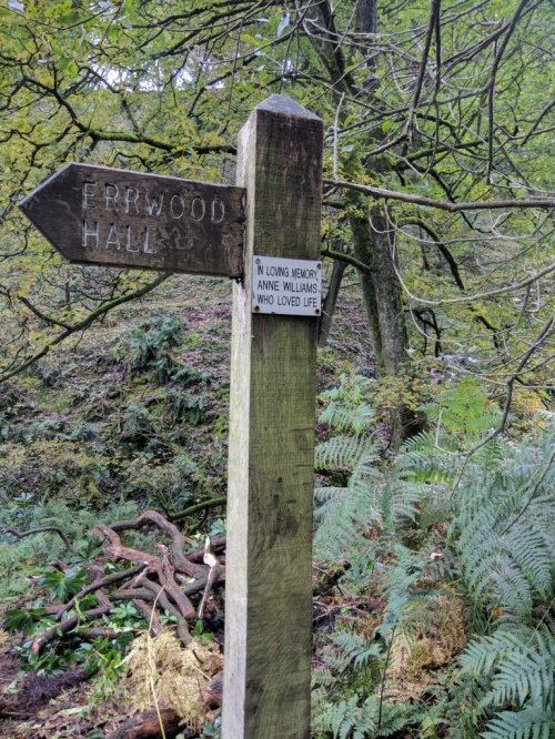Sign to Errwood Hall
