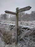 Sign to Hathersage and Grindleford