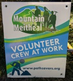 Mountain Meitheal volunteer sign