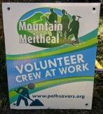 Mountain Meitheal volunteer sign
