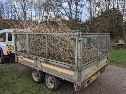 Loaded trailer
